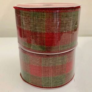 (#RBCH14) TWO SPOOLS OF CHRISTMAS RIBBON